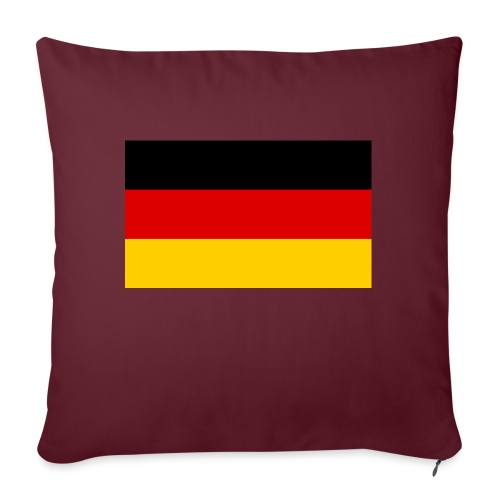 2000px Flag of Germany svg - Sofakissen mit Füllung 44 x 44 cm