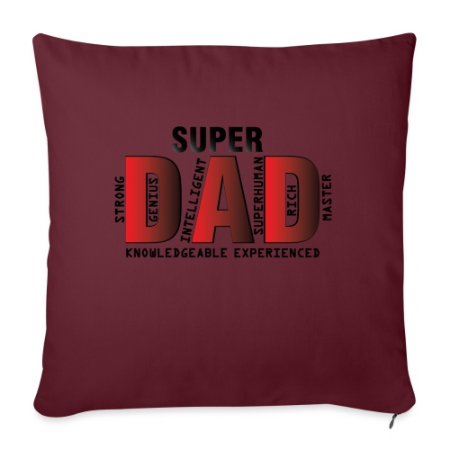 FATHER'S DAY - SUPER DAD DESIGN - Sofa pillow with filling 45cm x 45cm