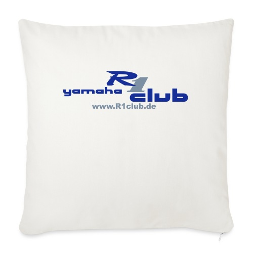 R1club Logo blau - Sofakissen mit Füllung 44 x 44 cm