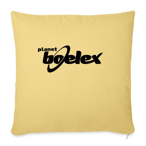 Planet Boelex logo black - Sofa pillow with filling 45cm x 45cm