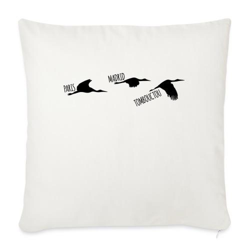 3 destinations oiseau black - Coussin et housse de 45 x 45 cm