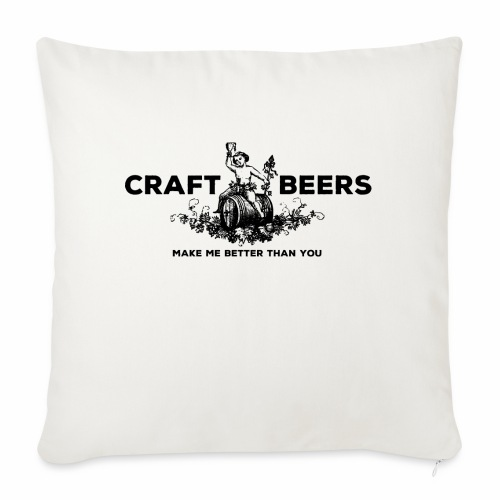 Craft Beers - Sofa pillow with filling 45cm x 45cm