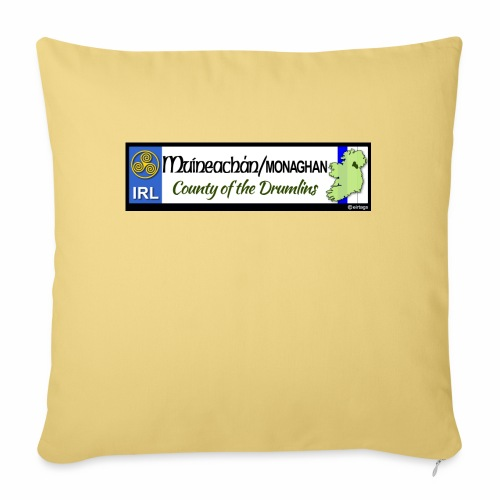 MONAGHAN, IRELAND: licence plate tag style decal - Sofa pillow with filling 45cm x 45cm