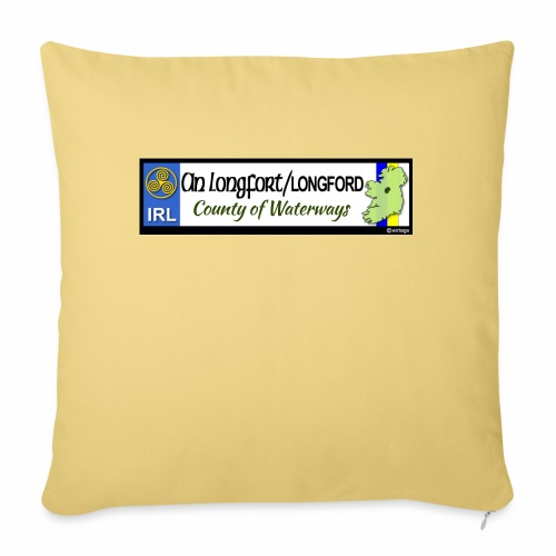 LONGFORD, IRELAND: licence plate tag style decal - Sofa pillow with filling 45cm x 45cm