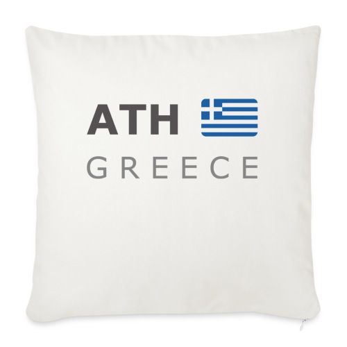 ATH GREECE dark-lettered 400 dpi - Sofa pillow with filling 45cm x 45cm