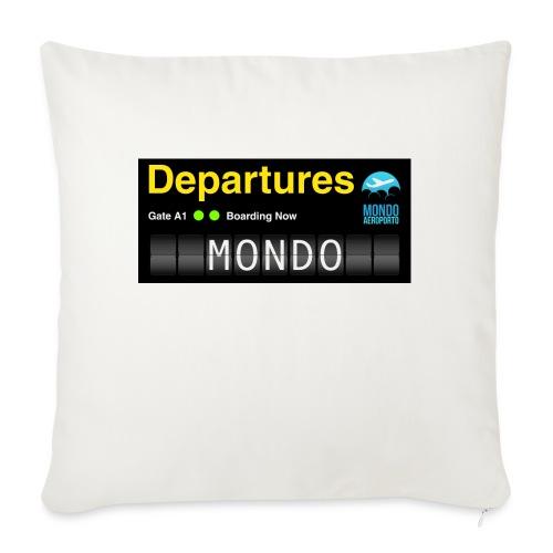 Departures MONDO jpg - Cuscino da divano 44 x 44 cm con riempimento