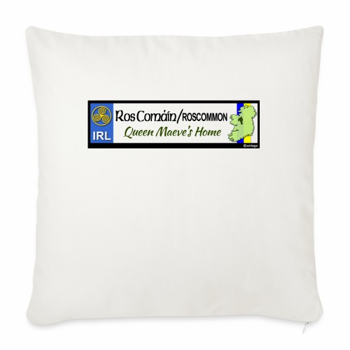 ROSCOMMON, IRELAND: licence plate tag style decal - Sofa pillow with filling 45cm x 45cm