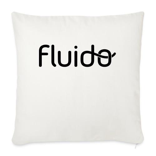 fluidologo_musta - Sohvatyynyt täytteellä 44 x 44 cm