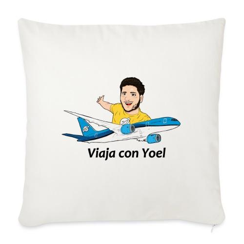 Frequent Flyer Yellow Viaja con Yoel - Cojín de sofá con relleno 44 x 44 cm