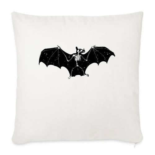 Bat skeleton #1 - Sofa pillow with filling 45cm x 45cm