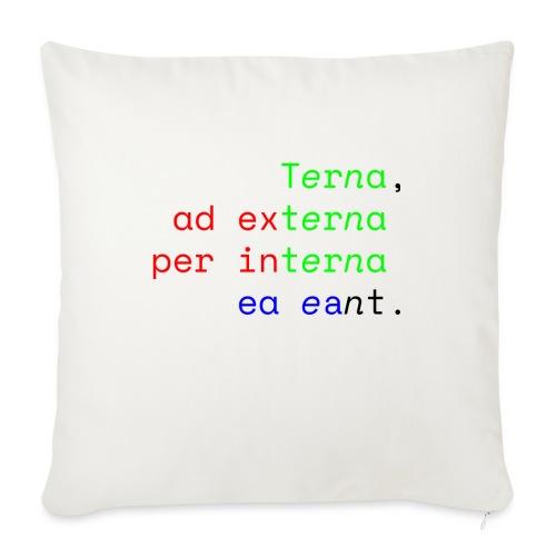Terna Alba - Cuscino da divano 44 x 44 cm con riempimento