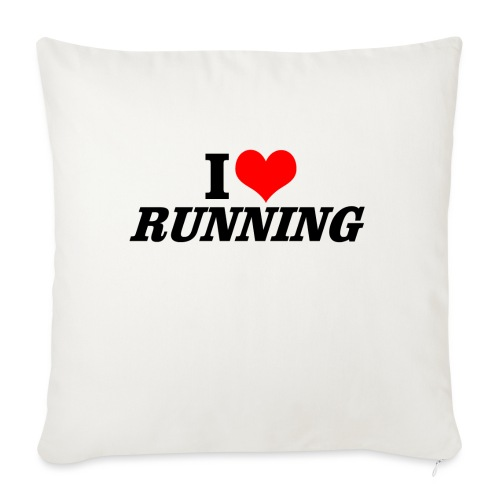 I love running - Sofakissen mit Füllung 44 x 44 cm