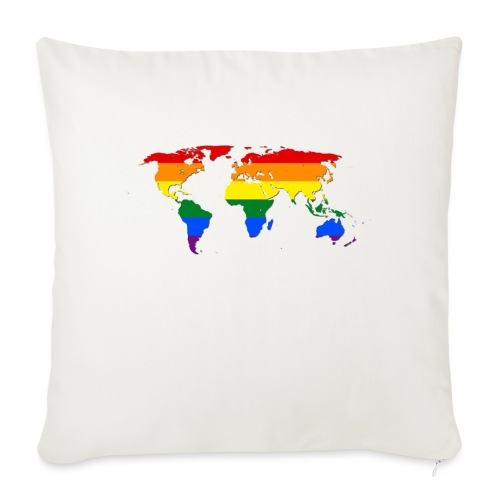 RAINBOW WORLD - LOVE Is LOVE - GAYPRIDE - Sofakissen mit Füllung 44 x 44 cm