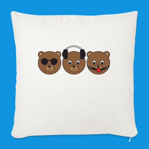 3 Wise Bears - Sofa pillow with filling 45cm x 45cm