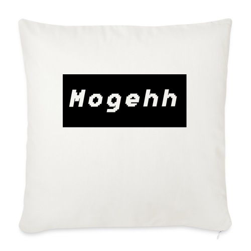 Mogehh logo - Sofa pillow with filling 45cm x 45cm