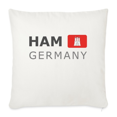 HAM GERMANY HHF dark-lettered 400 dpi - Sofa pillow with filling 45cm x 45cm