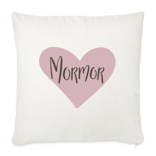 Mormor- hjärta - Soffkudde med stoppning 44 x 44 cm