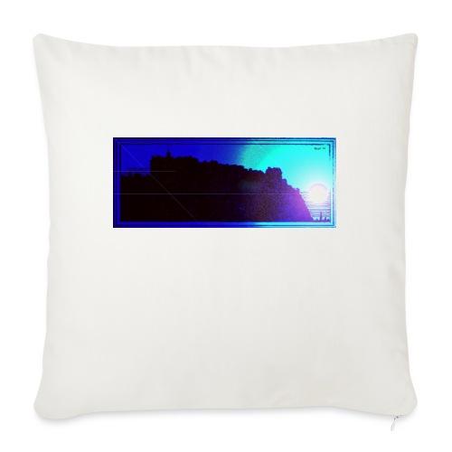 Silhouette of Edinburgh Castle - Sofa pillow with filling 45cm x 45cm