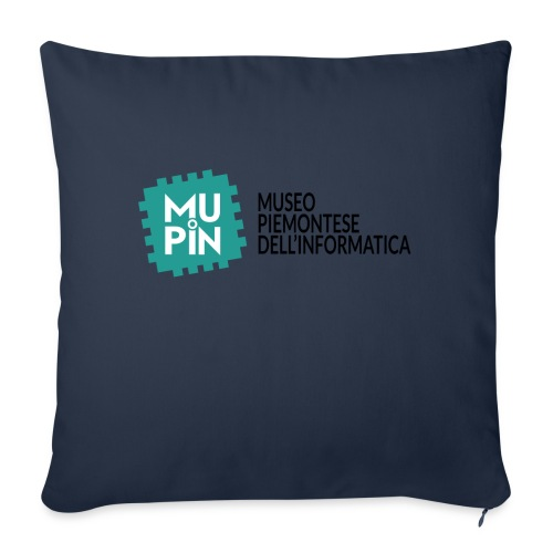 Logo Mupin con scritta - Cuscino da divano 44 x 44 cm con riempimento