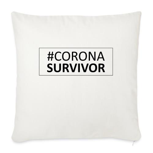 corona virus survivor - Sofa pillow with filling 45cm x 45cm