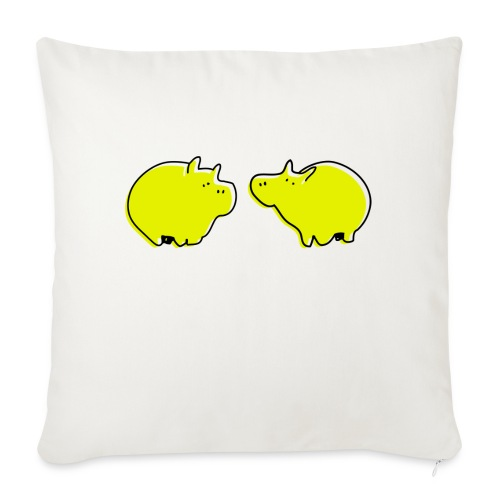 Cochons jaunes - Coussin et housse de 45 x 45 cm