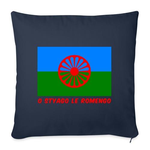 o styago le romengo flag of romani people t-shirt - Cuscino da divano 44 x 44 cm con riempimento