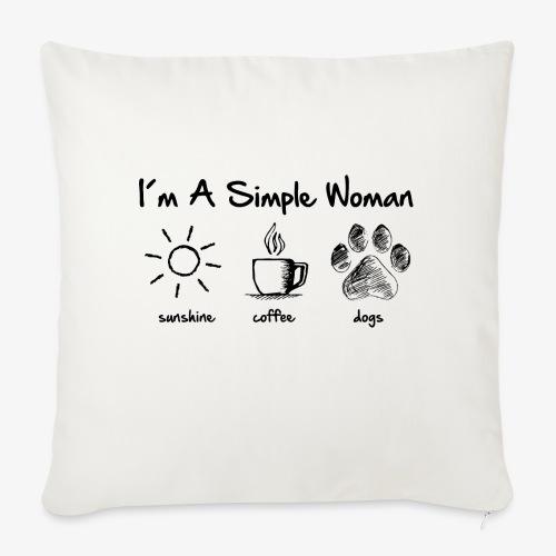 simple woman dog - Sofakissen mit Füllung 44 x 44 cm