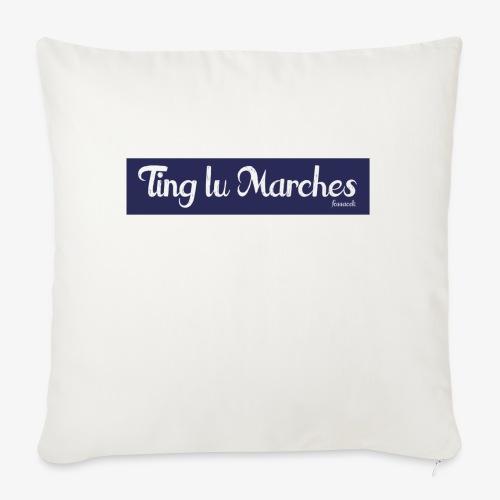 Ting lu Marches - Cuscino da divano 44 x 44 cm con riempimento