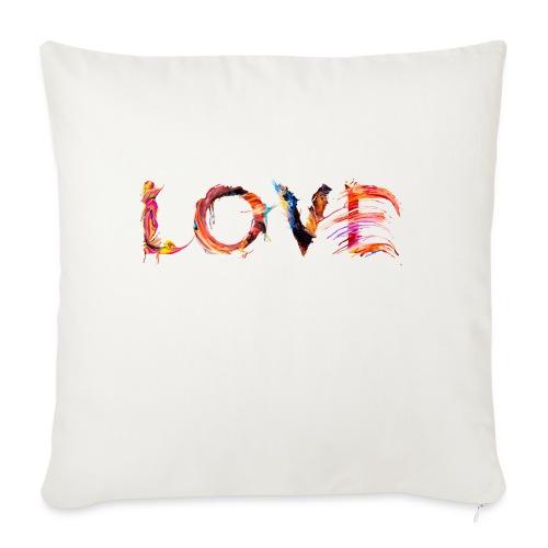 Love - Coussin et housse de 45 x 45 cm