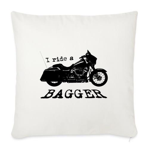 I ride a bagger - sort - Sofapude med fyld 44 x 44 cm