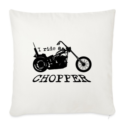I ride a chopper - sort - Sofapude med fyld 44 x 44 cm