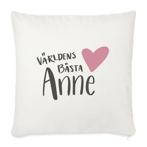 Världens bästa Anne - Soffkudde med stoppning 44 x 44 cm