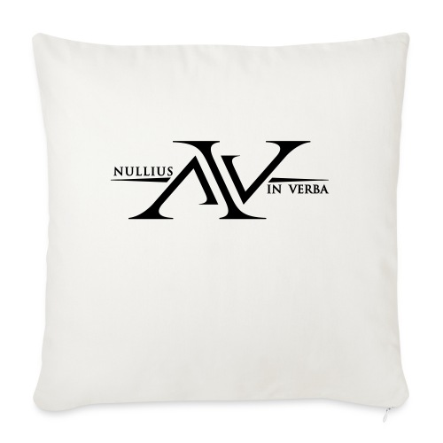 Nullius In Verba Logo - Sofa pillow with filling 45cm x 45cm