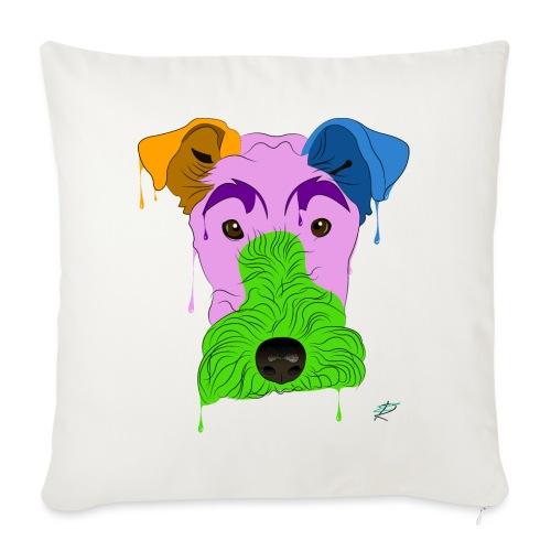 Fox Terrier - Cuscino da divano 44 x 44 cm con riempimento
