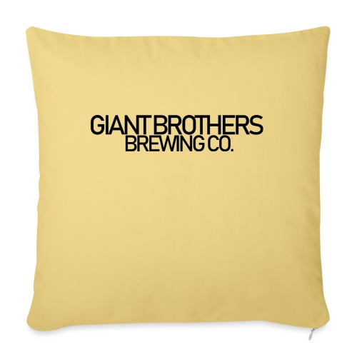 Giant Brothers Brewing co SVART - Soffkudde med stoppning 44 x 44 cm