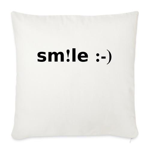 smile - sorridi - Cuscino da divano 44 x 44 cm con riempimento