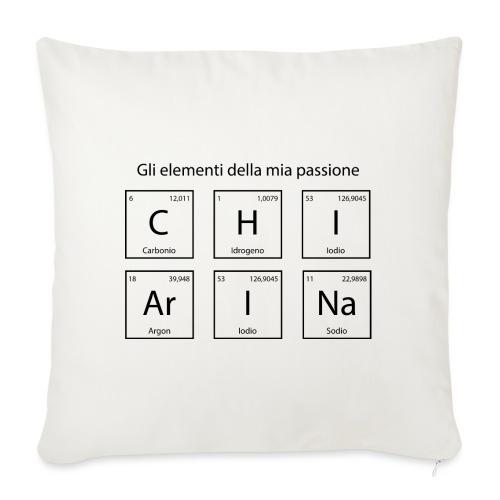 elementi chimici chiarina - Cuscino da divano 44 x 44 cm con riempimento