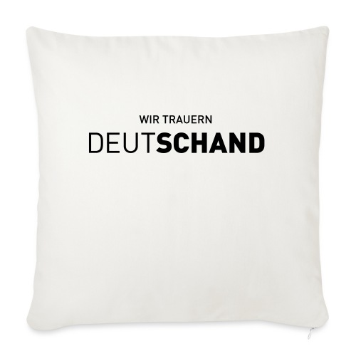 WIR TRAUERN Deutschand - Sofakissen mit Füllung 44 x 44 cm