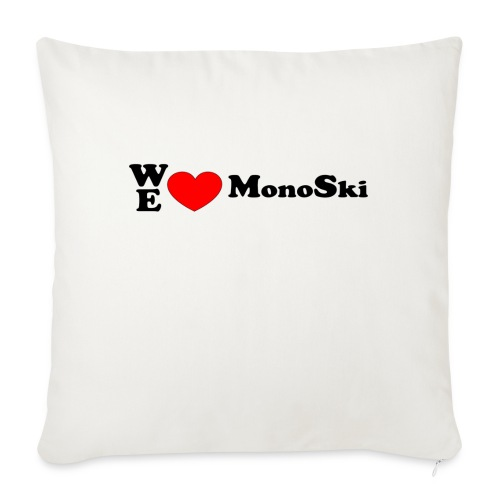 WeLoveMonoSki - Soffkudde med stoppning 44 x 44 cm