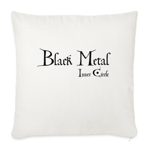 black metal Inner Circle, black ink - Sofa pillow with filling 45cm x 45cm