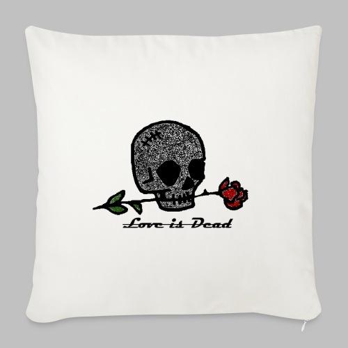 Love Is Dead Custom Skull Design - Bankkussen met vulling 44 x 44 cm