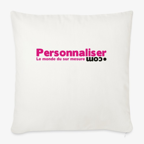 logo personnaliser - Coussin et housse de 45 x 45 cm