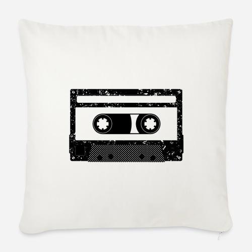 Kassette   Kompaktkassette   Compact Cassette - Sofakissen mit Füllung 44 x 44 cm