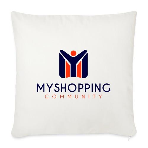 logo MYSC verticale - Cuscino da divano 44 x 44 cm con riempimento