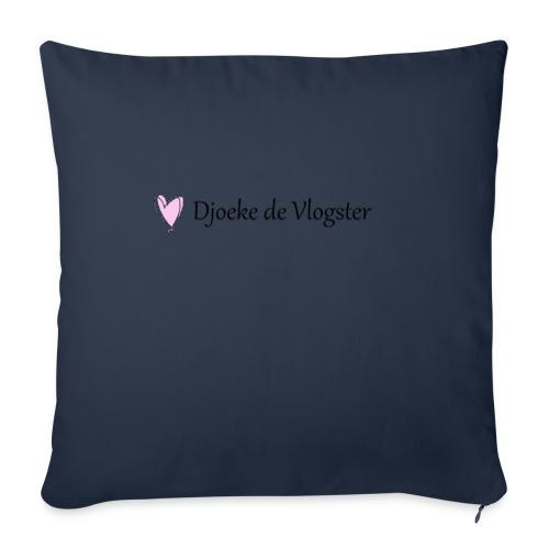 Djoeke de Vlogster logo 2 - Bankkussen met vulling 44 x 44 cm