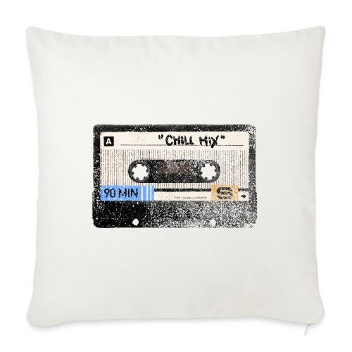 Music cassette chill mix - Sofapude med fyld 44 x 44 cm