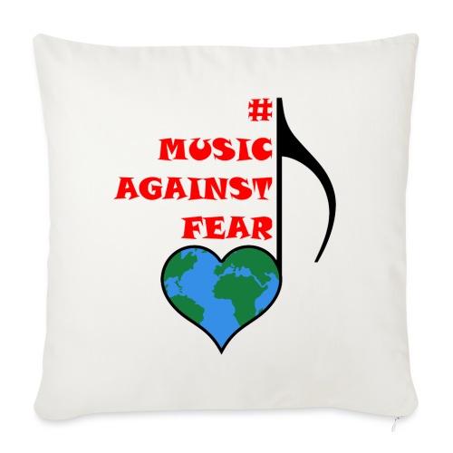 #MusicAgainstFear - Schwarz - Sofakissen mit Füllung 44 x 44 cm