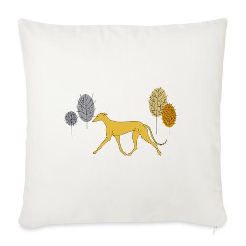 Gelber Windhund - Sofakissen mit Füllung 44 x 44 cm