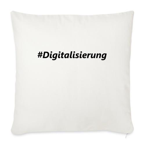 #Digitalisierung black - Sofakissen mit Füllung 44 x 44 cm