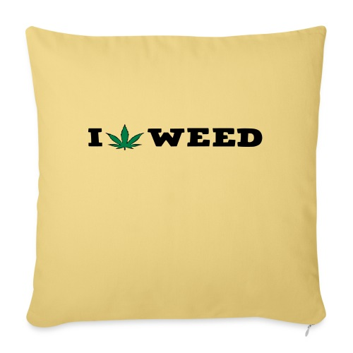 I LOVE WEED - Sofa pillow with filling 45cm x 45cm